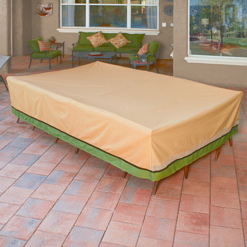 Tan Rectangular Table Cover