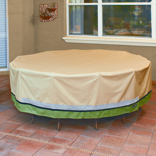 Tan Round Table Cover