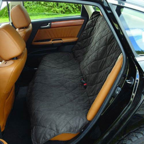 Graphite and Cream Medium Soft Suede with Sherpa Reversible Auto Bench Seat
