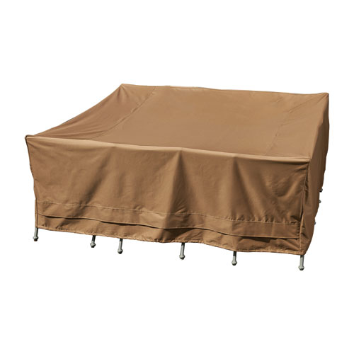 Sure Fit Earth Brown Patio Armor Square Table And Chair Cover