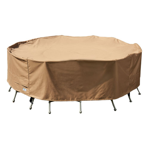 Earth Brown Patio Armor XL Round Table and Chair Cover