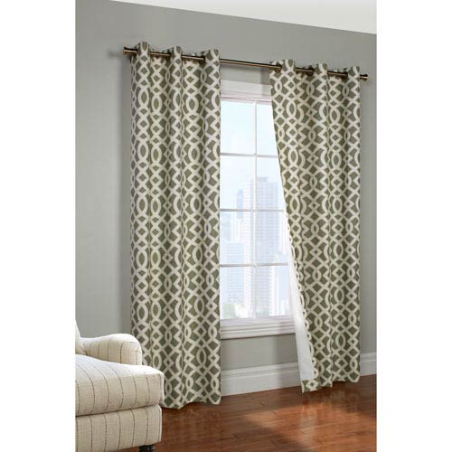 Trellis Sage 95 x 80-Inch Grommet Curtain Panel Pair