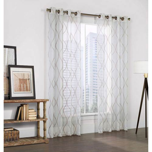 Couture Crystal White 95 x 54-Inch Grommet Top Panel