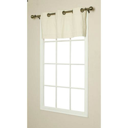 Weathermate Natural 15 x 40-Inch Grommet Top Valance
