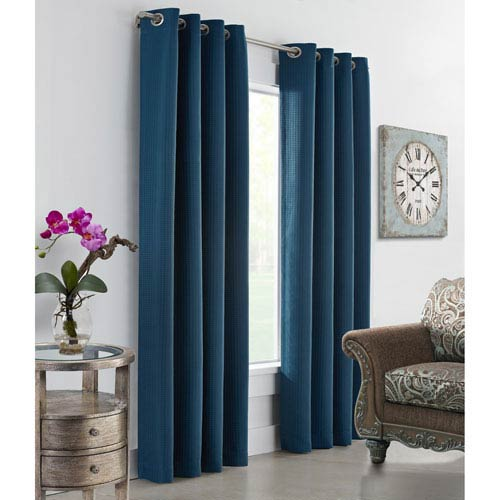 Darcy Dark Teal 108 x 54-Inch Grommet Curtain Single Panel
