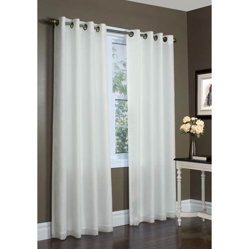 Commonwealth Home Fashions Thermavoile™ Ivory 104 x 72-Inch Rhapsody Lined Grommet Top Single Panel