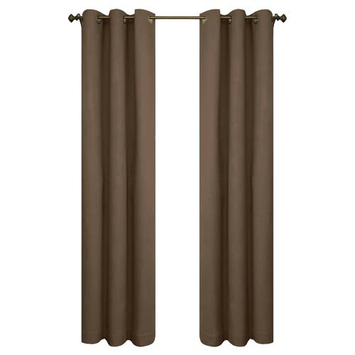 Commonwealth Home Fashions Thermalogic™ Chocolate 80 x 63-Inch Weathermate Grommet Top Two Panel Pair