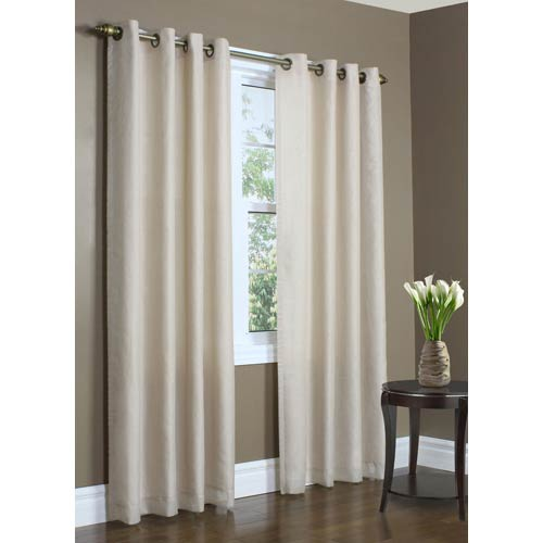Commonwealth Home Fashions Thermavoile™ Mushroom 54 x 84-Inch Rhapsody Lined Grommet Top Single Panel