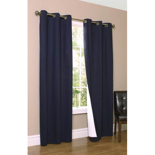 Commonwealth Home Fashions Thermalogic™ Navy 80 x 84-Inch Weathermate Grommet Top Two Panel Pair