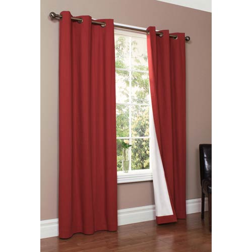 Commonwealth Home Fashions Thermalogic™ Burgundy 80 x 84-Inch Weathermate Grommet Top Two Panel Pair