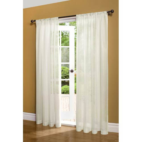 Commonwealth Home Fashions Thermasheer™ Ivory 50 x 63-Inch Weathershield Pocket Top Single Panel