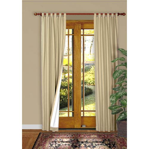 Commonwealth Home Fashions Thermalogic™ Natural 160 x 84-Inch Weathermate Tab Panel Pair