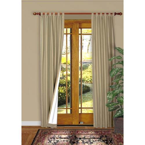 Commonwealth Home Fashions Thermalogic™ Khaki 80 x 72-Inch Weathermate Tab Panel Pair