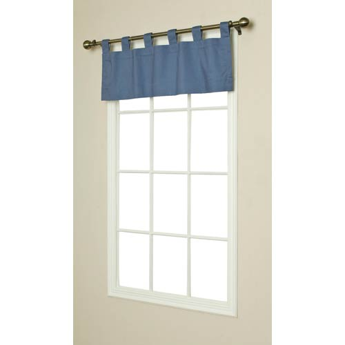 Commonwealth Home Fashions Thermalogic™ Blue 40 x 15-Inch Weathermate Tab Single Valance