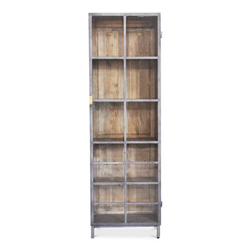 Moleskin Gray 75-Inch Right Handle Display Cabinet
