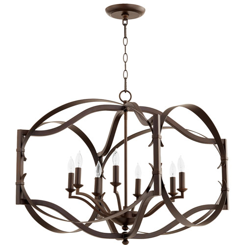 Atwood Oiled Bronze Eight-Light Pendant