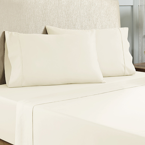 Ivory 4 Piece Queen Cotton Rich Sheet Set