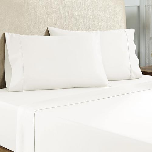 White 4 Piece King Cotton Rich Sheet Set