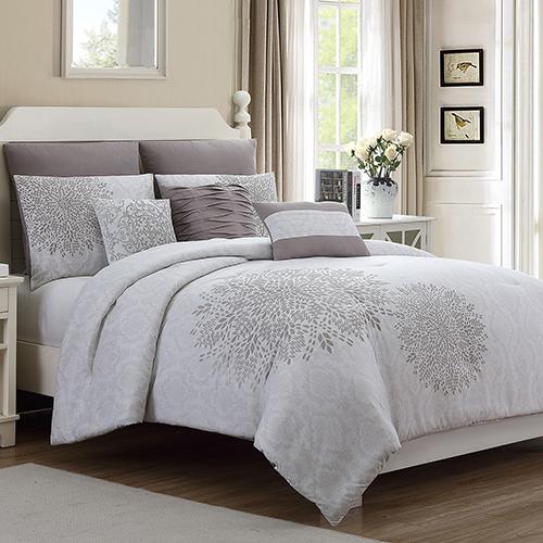 Pacific Coast Textiles Allure Devonshire 8 Piece King Comforter Set