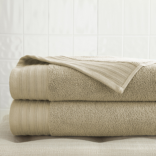Spring Bloom Taupe 2 Piece Quick Dry Towel Set