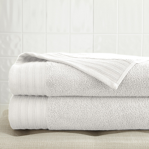 Spring Bloom White 2 Piece Quick Dry Towel Set