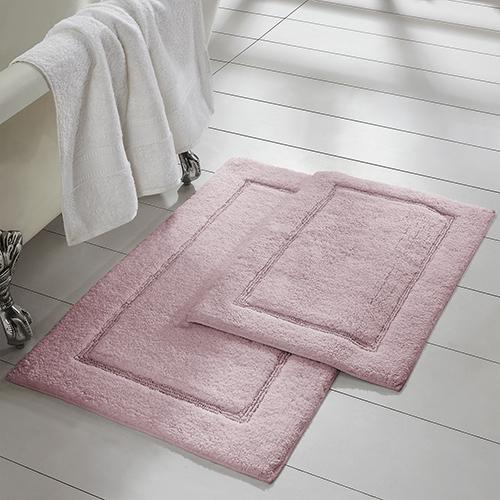 Allure Dusty Rose 2 Piece Non-Slip Bath Mat