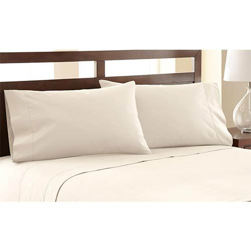 Symphony Ivory Four-Piece 1200 Thread Count Queen Sheet Set