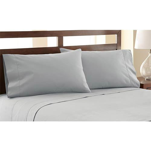Symphony Silver Four-Piece 1200 Thread Count Queen Sheet Set