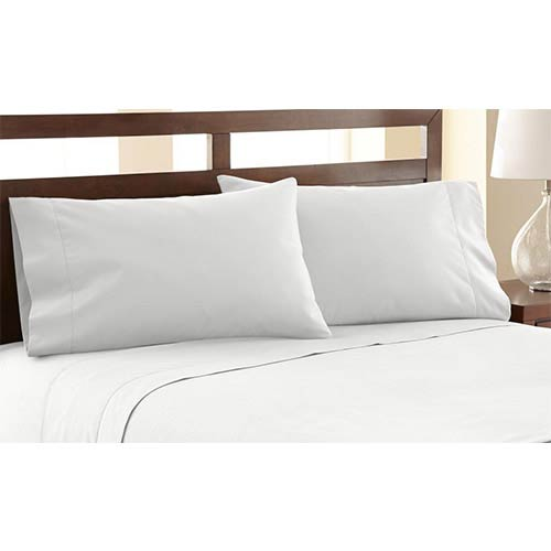 Pacific Coast Textiles Symphony White Four-Piece 1200 Thread Count Queen Sheet Set