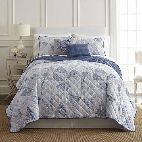 Pacific Coast Textiles Dillon Queen Five-Piece Reversible Quilt Set