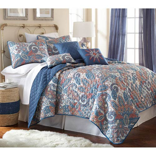 Arcadia Multicolor Six-Piece Reversible Queen Quilt Set