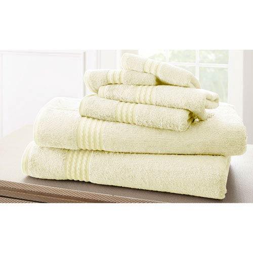 Ivory Bamboo Six-Piece Towel Set