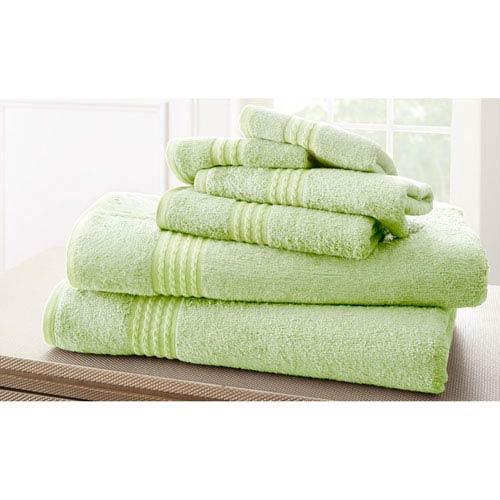 Sage Bamboo Six-Piece Towel Set