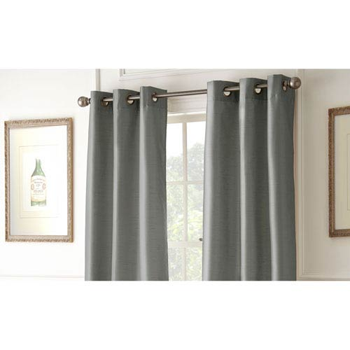 Pacific Coast Textiles Shawn Charcoal 84 x 37-Inch Blackout Curtain Panel Pair