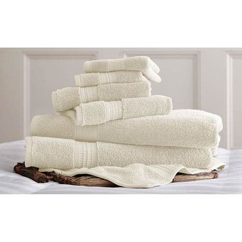 Luxury Spa Ivory Six-Piece Cotton Towel Set
