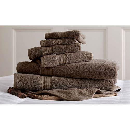 Luxury Spa Mocha Six-Piece Cotton Towel Set