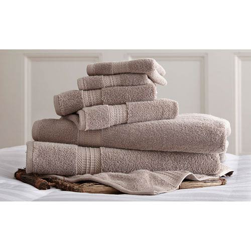 Luxury Spa Taupe Six-Piece Cotton Towel Set