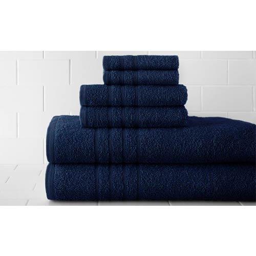 Pacific Coast Textiles Spa Denim Luxurious Six-Piece Towel Set