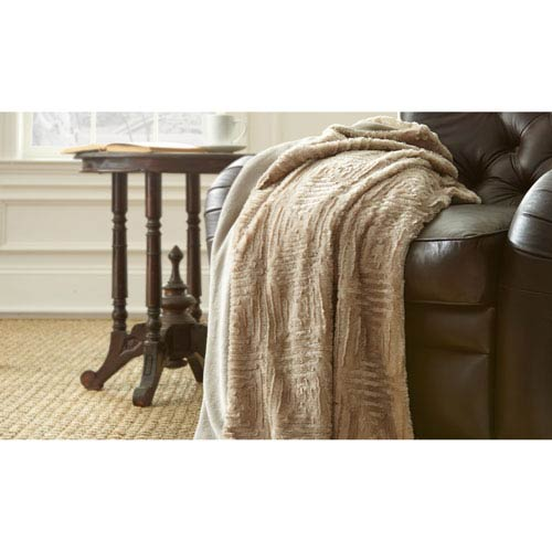 Pumice Stone Luxury Faux Fur Throw