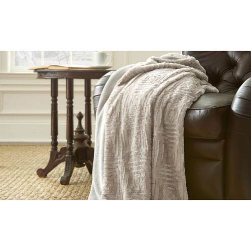 White Sand Luxury Faux Fur Throw