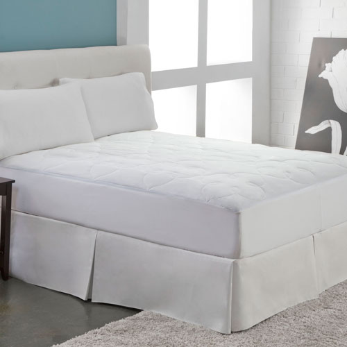 White Silky Cotton Full Mattress Pad