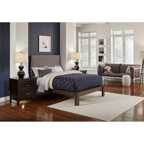 Bedhead Instant Gray Twin Rectangular Headboard