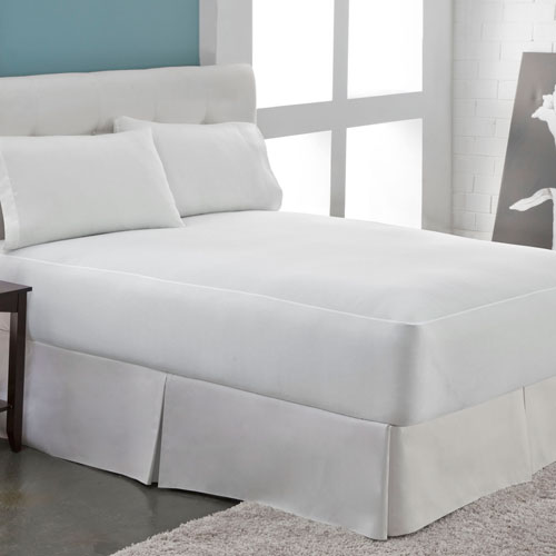 Aller-Free White Microfleece Waterproof Twin Mattress Protector