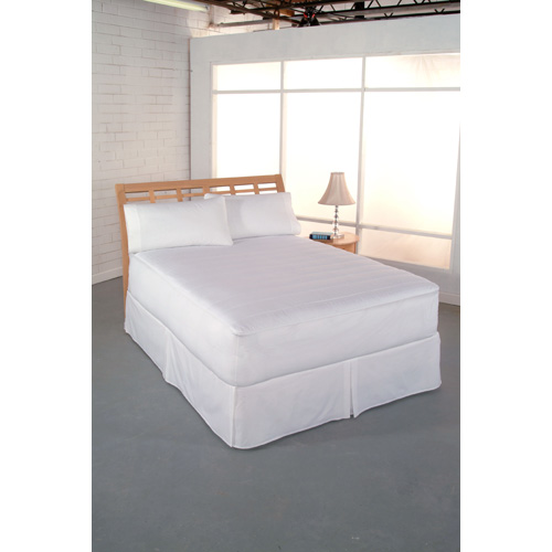 White 400 Thread Count Twin Mattress Pad
