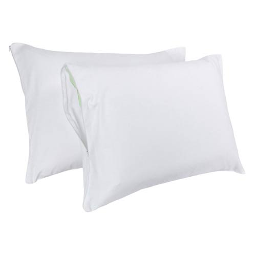 White Jumbo Pillow Cover, Set of Two