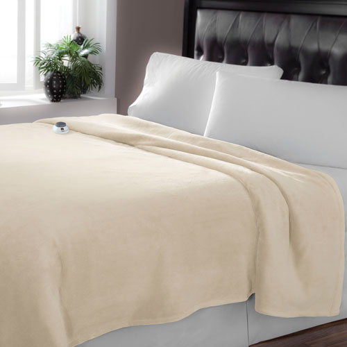 Serta Luxe Plush Cloud Twin Warming Blanket