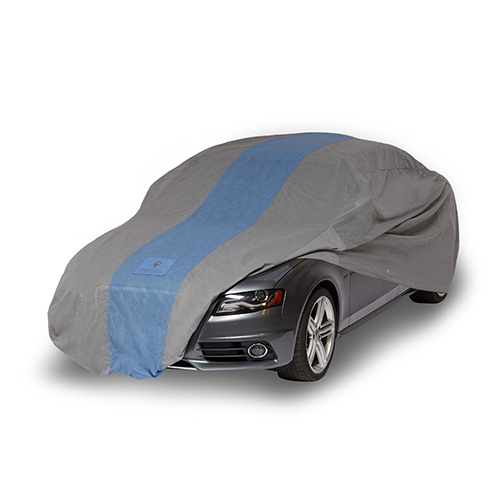 Defender Light Grey and Gulf Blue Car Cover for Sedans up to 22 Ft. Long