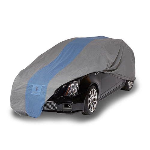Defender Light Grey and Gulf Blue Station Wagon Cover for Wagons up to 16 Ft. 8 In. Long