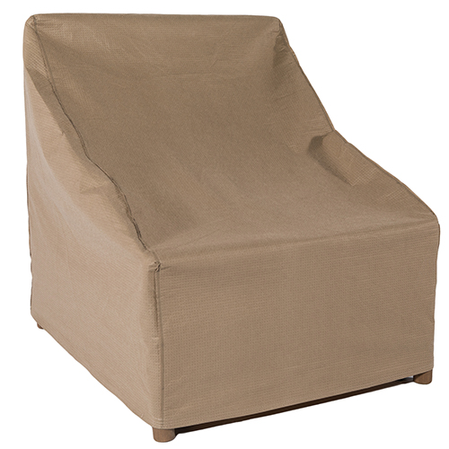 Essential Latte 28 In. Stackable Patio Chair Cover