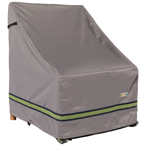 Soteria Grey RainProof 28 In. Stackable Patio Chair Cover